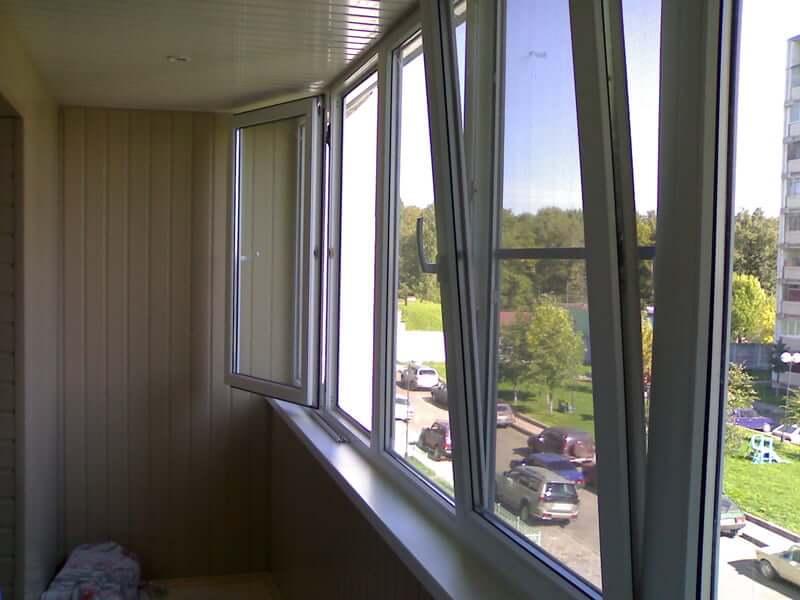 Остекление балкона окнами пвх. - лоджии - каталог статей - б.